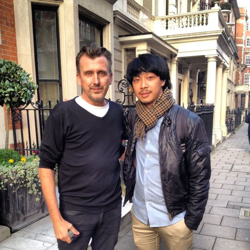 Calvin with Director of Vidal Sassoon