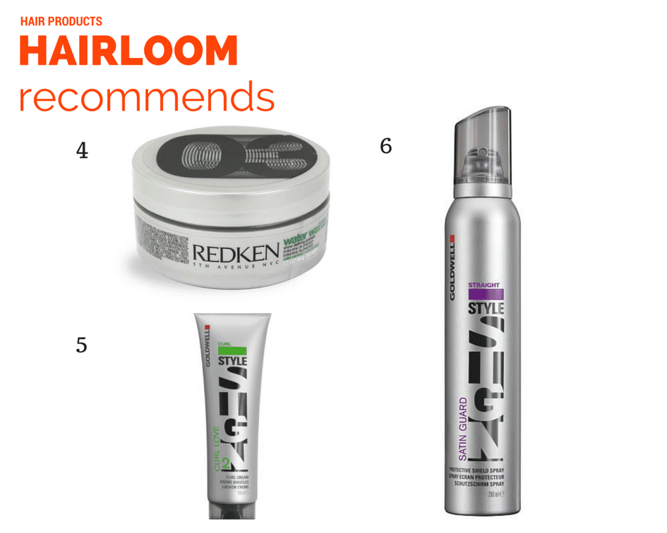 Hairloom recommends 3 vertical